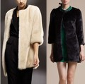 2015 New Women Winter Faux Fake Fur coats long sleeve Fashion Warm Plus Size Jacket Outwear colete de pele