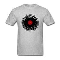 Spinning With A Vinyl Record Retro Music DJ Tees Shirt Men S Tailored Custom Short Sleeve