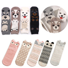 Lovely Cartoon Women Socks High Quality Cotton Animal Sock Autumn Winter Warm For Lady Girls Art Chaussettes Femme