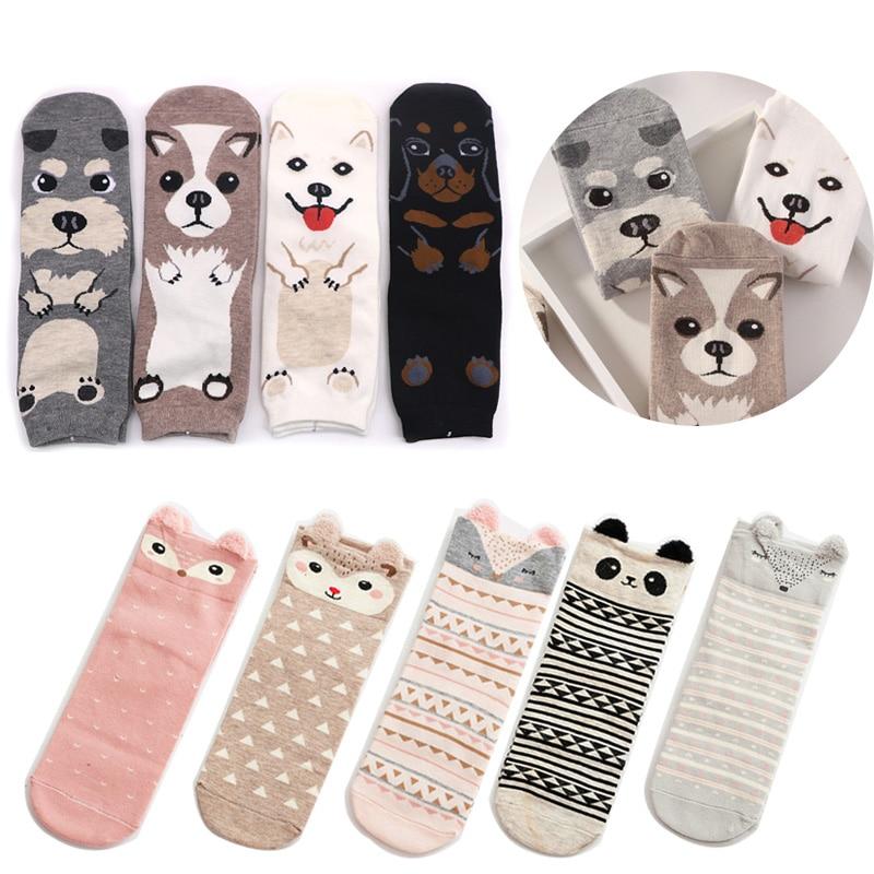 Lovely Cartoon Women   Socks   High Quality Cotton Animal   Sock   Autumn Winter Warm   Socks   for Lady Girls Art   Socks   Calcetines Mujer