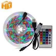 USB 5V Dải Đèn LED Ánh Sáng 1M 2M 3M 4M 5M Trắng Ấm/Trắng/RGB Dây Đèn LED 2835 TV Nền Chiếu Sáng Decoracion Cổ Tích Đèn.