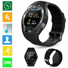 Bluetooth Y1 Smart Watch Android Phone Call SIM Camera Sport Watch Full Screen Sleep Tracker Message Reminder For Android IOS