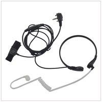 2-draht Licht-duty Throat Mic Überwachung kit w/transluzente Rohr & Finger PTT für Vertex VX-260 VX-450 VX-530 EVX-531 EVX-261
