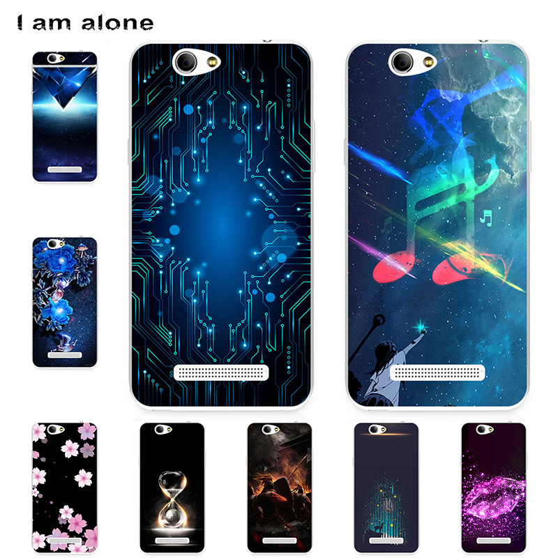 "I am alone Phone Cases For Wileyfox Spark 5.0"" / Spark X 5.5"" Solf TPU Fashion Mobile For Wileyfox Spark X Bags Shipping Free"