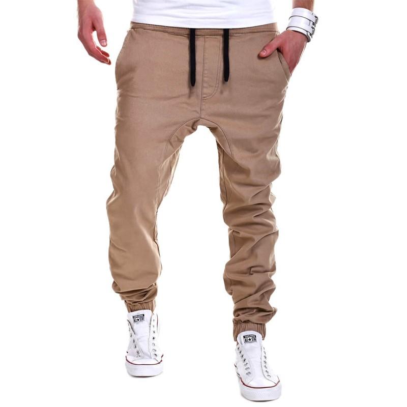 New Men Haren Sweat Pants for Men 2016 Harem Pants Men Pocket Drawstring For Training Men Hip Hop Loose Solid Trianing Pants