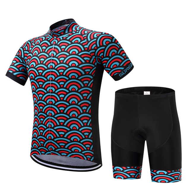 Unique Full Fish Scales Illusion Print Cycle Jersey Tops and Short Set  Cycling Kit 87a300194