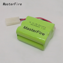 MasterFire New Original Ni-MH 7.2V AA 1800mAh Ni-MH Battery Rechargeable Batteries Pack With Plugs original ni pci can