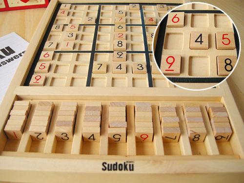цена на candice guo! Wooden toy adult intelligence game sudoku Latin square puzzle children gift 1set