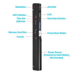 Image 2 - Digital Portable iScan Mini Scanner 900DPI LCD Display JPG/PDF Format Document Image Iscan Handheld Scanner A4 Book Scanner