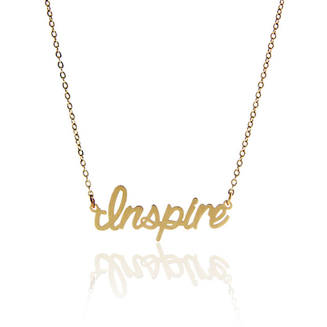 Aoloshow letter necklace women inspire statement necklace with aoloshow letter necklace women inspire statement necklace with stainless steel nameplate pendant initials necklace aloadofball Image collections