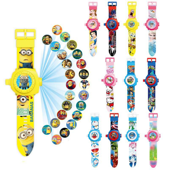 1PCS Newest Funny 3D Projection Watch Children's Cartoon Toys Electronic Display Watches Boys And Girls Electronic Toys For Chil