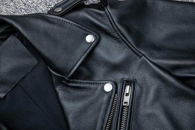 HTB16VDKc6fguuRjSszcq6zb7FXa9 MAPLESTEED Classical Motocycle Jackets Men Leather Jacket 100% Natural Calf Skin Thick Moto Jacket Man Biker Coat Winter M192