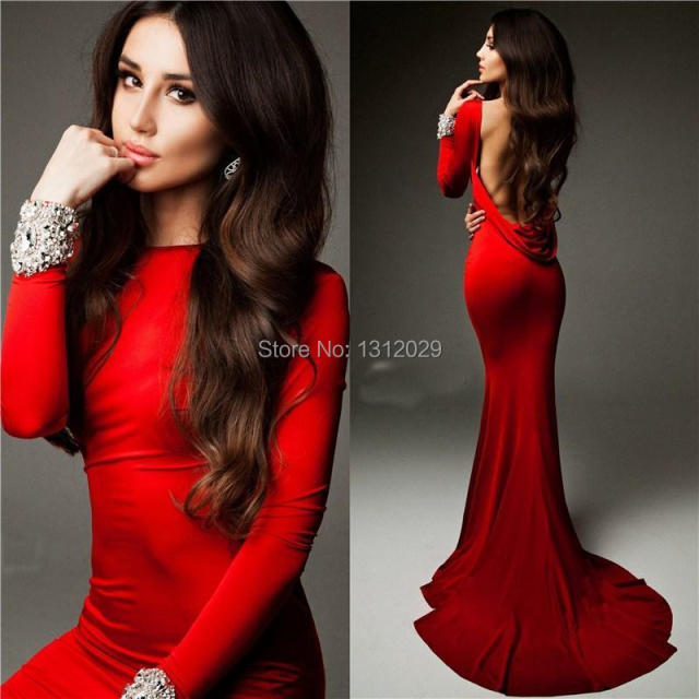 Jersey Knit Evening Gown_Evening Dresses_dressesss