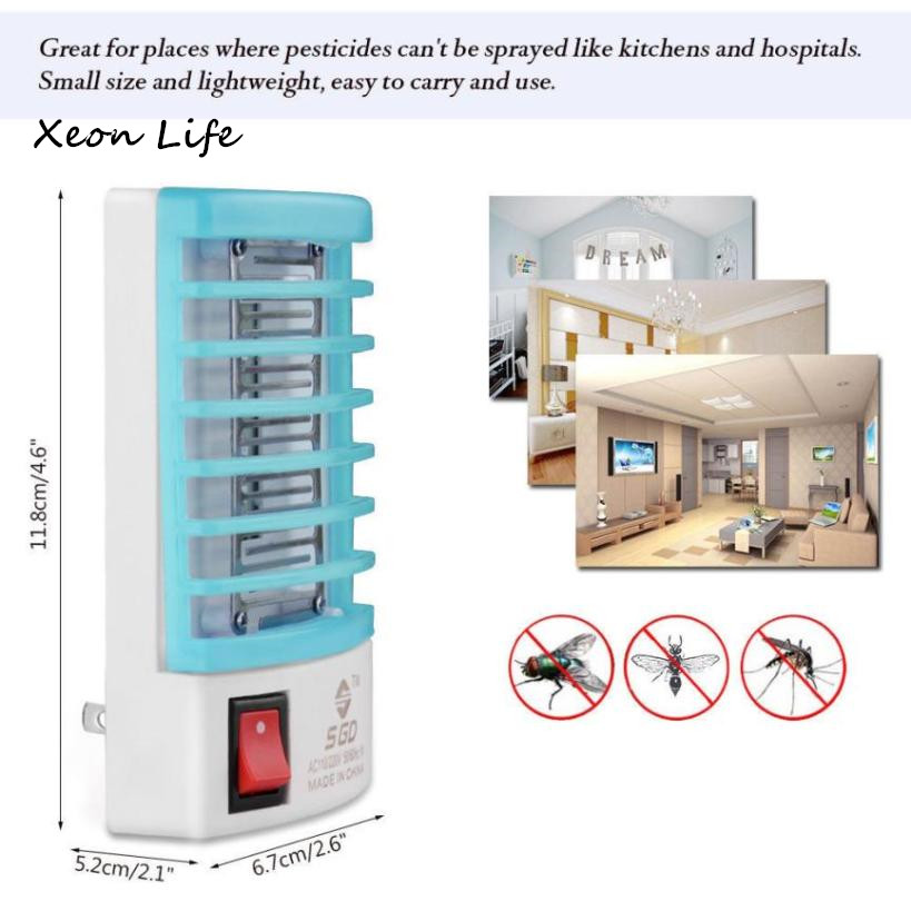 LED Socket Electric Mosquito Fly Bug Insect Trap Killer Zapper Night Lamp Lights Electric Mosquito Fly Bug Insect Trap Night