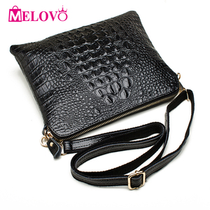 Image 1 - ipad Mini Bags New Arrival Bag Fashion Genuine Leather Handbags Women Aligator Clutch Bag Messenger Shoulder Bags  A216