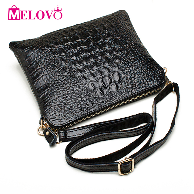 3c5a86d0af ipad Mini Bags New Arrival Bag Fashion Genuine Leather Handbags Women  Aligator Clutch Bag Messenger Shoulder Bags 17 Color A216