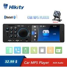 Hikity 4.1 Polegada tft 1 din rádio do carro de áudio estéreo fm rádio bluetooth mp5 player suporte câmera visão traseira com controle remoto