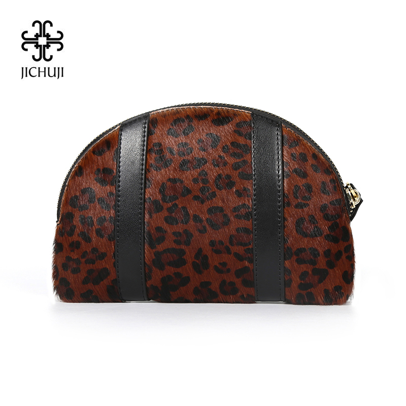 547130227 JICHUJI Women Coin Purse brown leopard print Wallet split leather zipper  casual soft big Coin Wallet bag High quality wallet-in Coin Purses from  Luggage ...