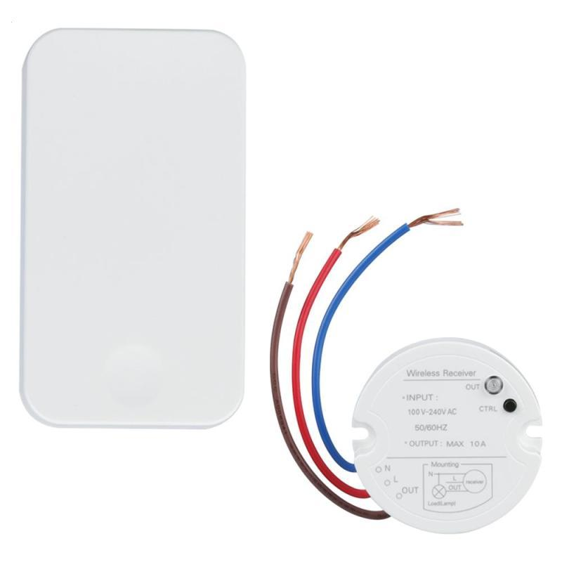 433MHz Wireless RF Self-powered Remote Control light Switch AC 110V 220V Receiver Module No Battery Transmitter DIY Kits H3 new design wireless remote control light switch radio 10v 220v 1 channel receiver module white transmitter high quality