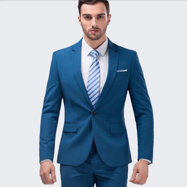 084177026ca9a5 Trajes de boda hechos a medida nuevo estilo turquesa para hombre traje de  fiesta Formal de