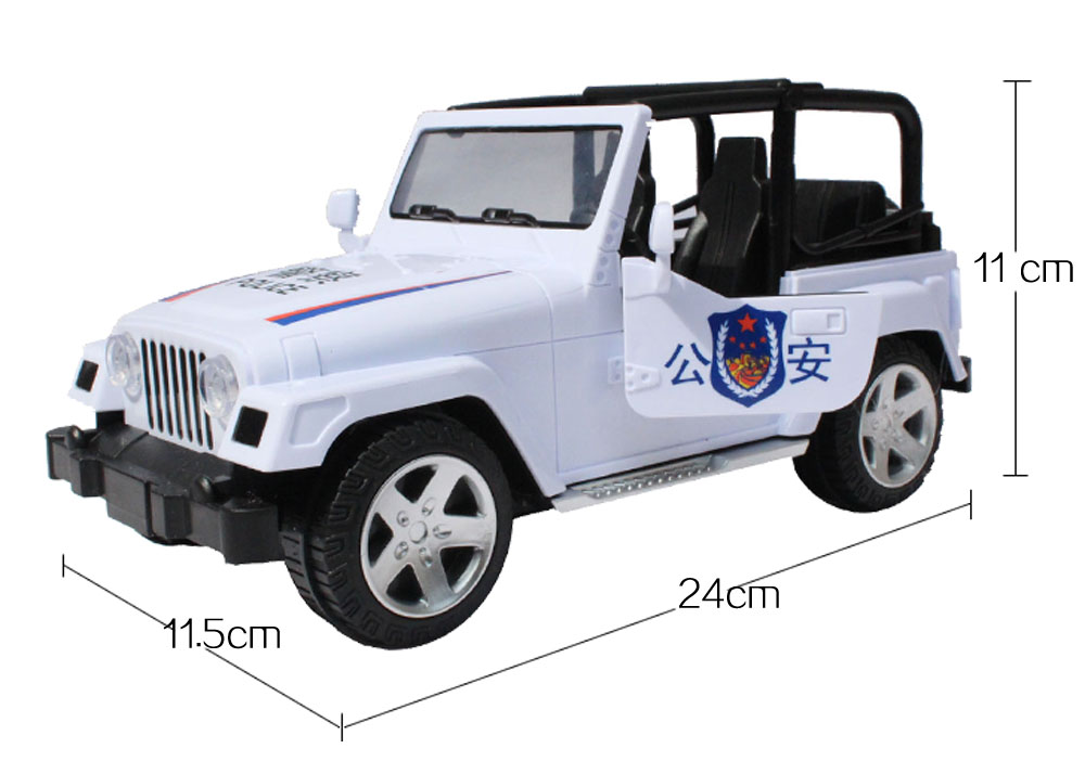 police series vehicle electric automatic car music flashing wrangler model car kids electric toys gift box