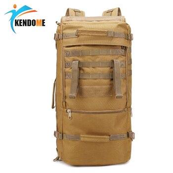 60274275add2 Открытый 60L Военная Тактическая Сумка Охота Кемпинг ноутбук Молл рюкзак  Оксфорд нейлон водонепроницаемый военный рюкзак; спортивная сумка