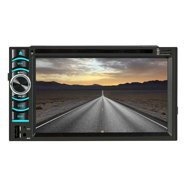 6.2 Inch Android Car GPS Navigation 2 Din Autoradio Radio Universal Car Multimedia Player DVD BT FM Mirrorlink Stereo Audio 6116