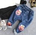 2-8Y nuevo 2016 de otoño de la alta calidad de los muchachos pantalones vaqueros de dibujos animados de moda niños los niños de los pantalones vaqueros pantalones de los muchachos