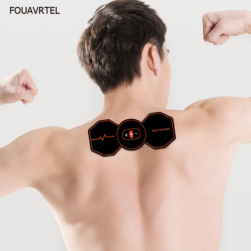 Electronic Wireless Back Relaxation Device Smart Fitness Muscle Massager Body EMS Neck