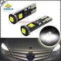 2 unids Xenon Blanco 3-SMD Canbus Free Error CRE'E XB-D W5W 2825 LED Bombillas Para Luces de Estacionamiento de Mercedes