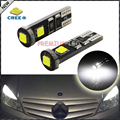 2pcs Xenon White Canbus Error Free 3-SMD CRE'E XB-D W5W 2825 LED Bulbs For Mercedes Parking Lights