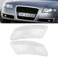 Car Headlight Lens Lampshade Left&Right PC Cover Fit For Audi A6 A6L C6 2006 2011