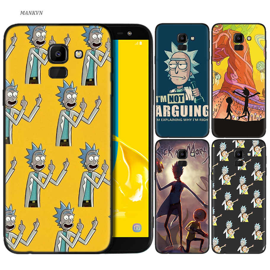 Silicone Case For Samsung Galaxy J4 J6 A6 A8 Plus A7 A9 J8 2018 A5 2017 Soft Cover Shell Rick And Morty