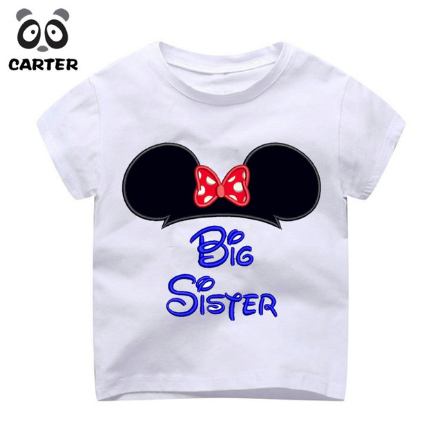bf5f7a39e Girl Big Middle Little Sister Design Brand T-shirts Boy's Big Brother  Little Brother Tee Shirt Children/Kid/Baby Top Clothes