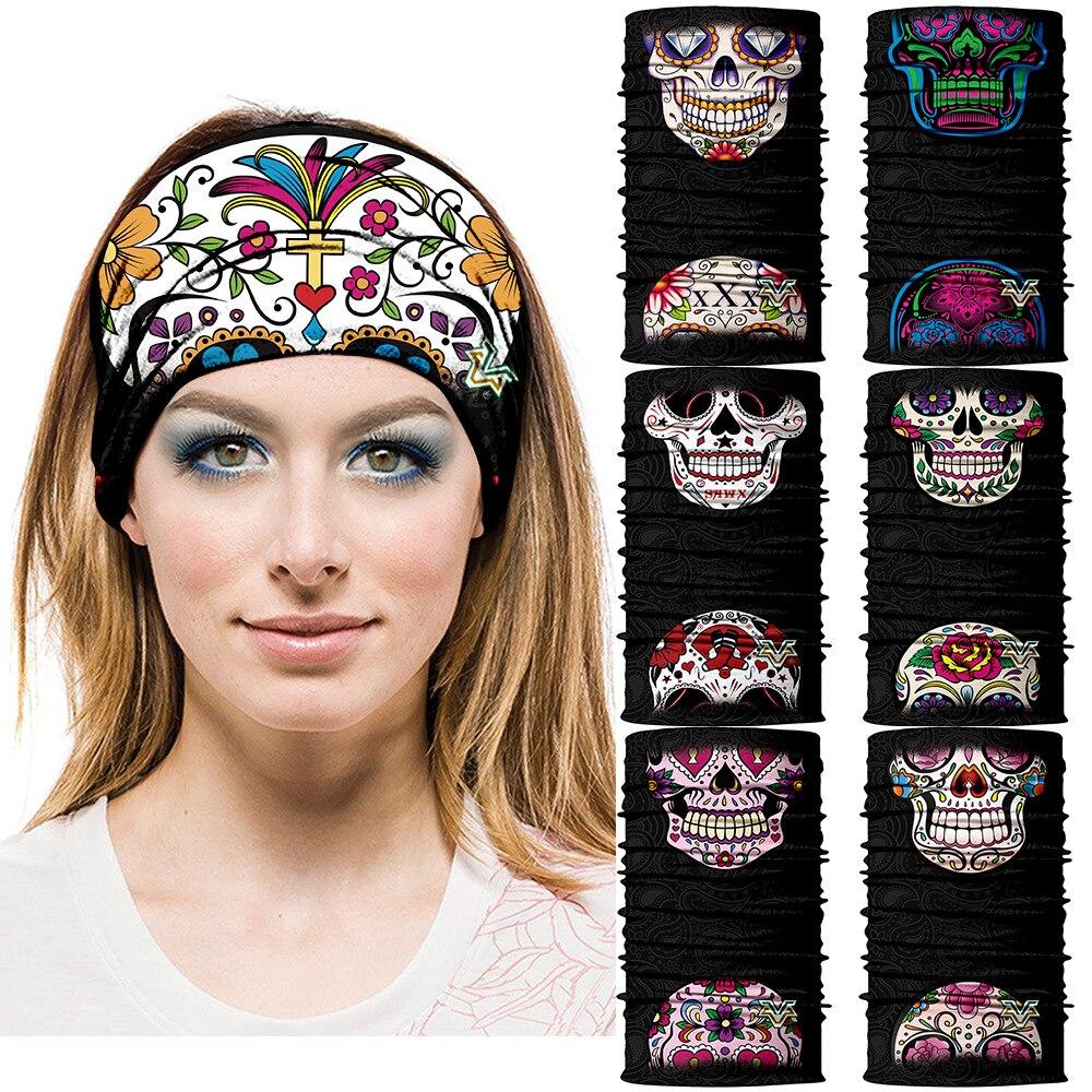 3D Mexico Skull Tube Bandana Cosplay Headband Motorcycle -1553