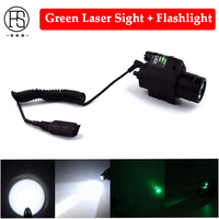 Tactical Pistol Laser Flashlight Combo M6 Laser Light For Gun Hunting Red Green Laser Sight With