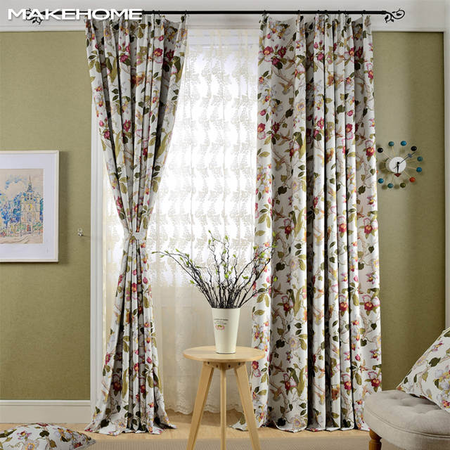 Country Style Blackout Window Curtains For Living Room Bedroom