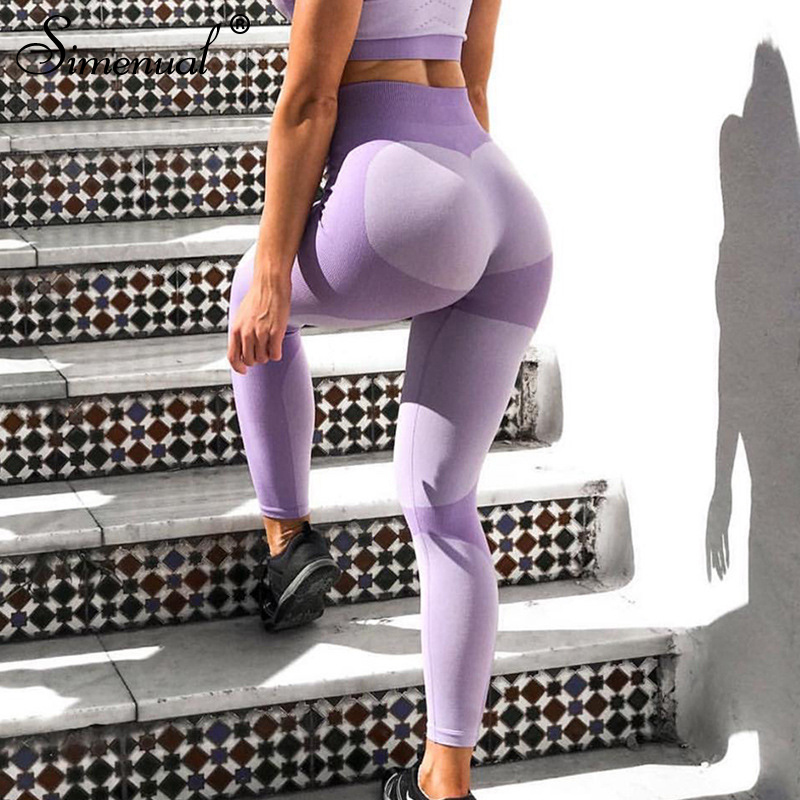 Simenual Patchwork Coronary heart Leggings Ladies Activewear Athleisure Slim Horny Push Up Legging Feminine Clothes Excessive Waist Health Pants