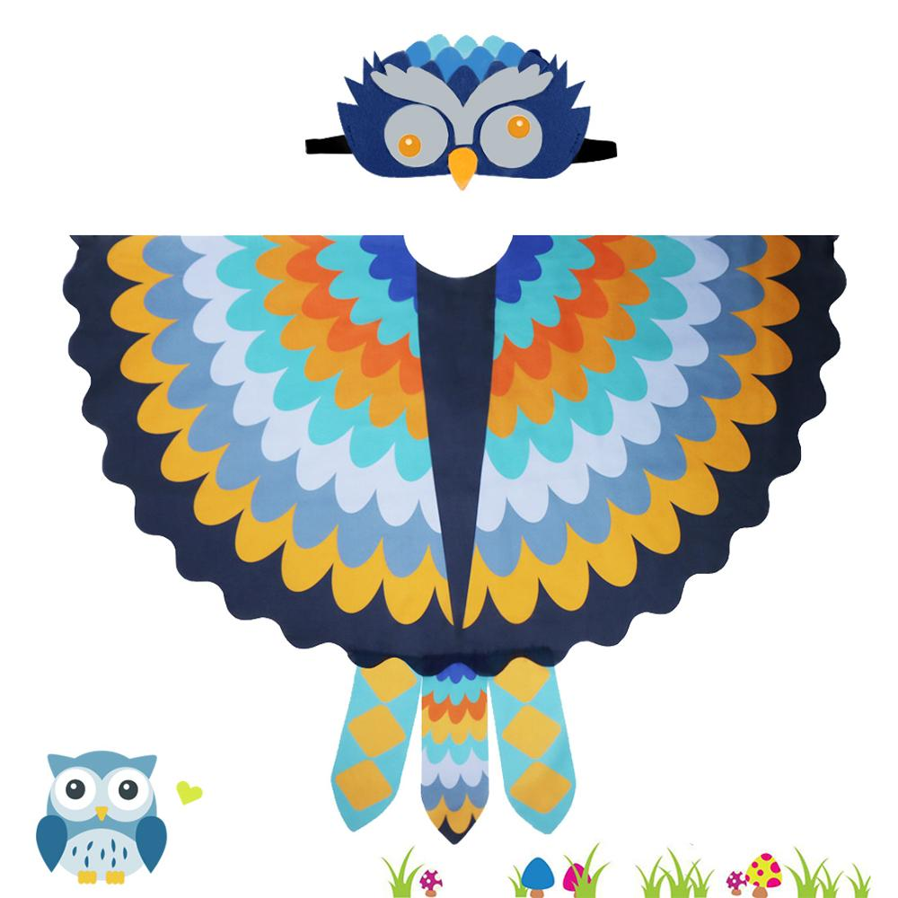 120*70 Cm SPECIAL Owl Costume Bird Wings Felt Animal Masks For Kids Zoo Party Festival Costumes New Years Party Dress Up Favors