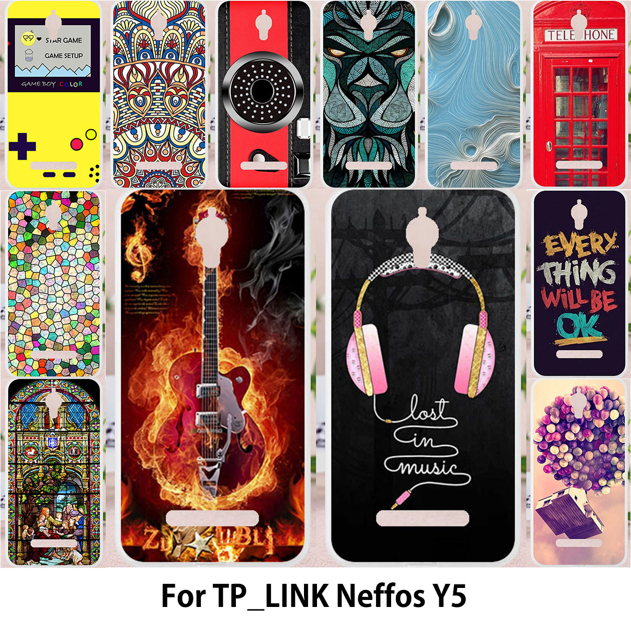 TAOYUNXI For TP-LINK Neffos Y5 cases Silicon Case For TPLINK Neffos Y5 tp link TP802A Cover Painting Camera Covers Patterned