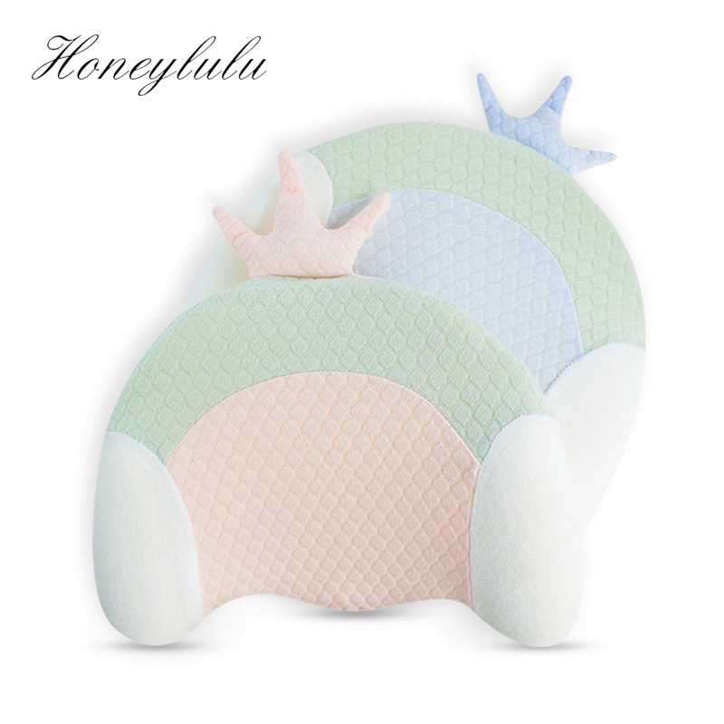 Honeylulu Baby Pillow Memory Foam Baby Head Support Anti rollover Pillow For Newborns Grooved Breathable Kids