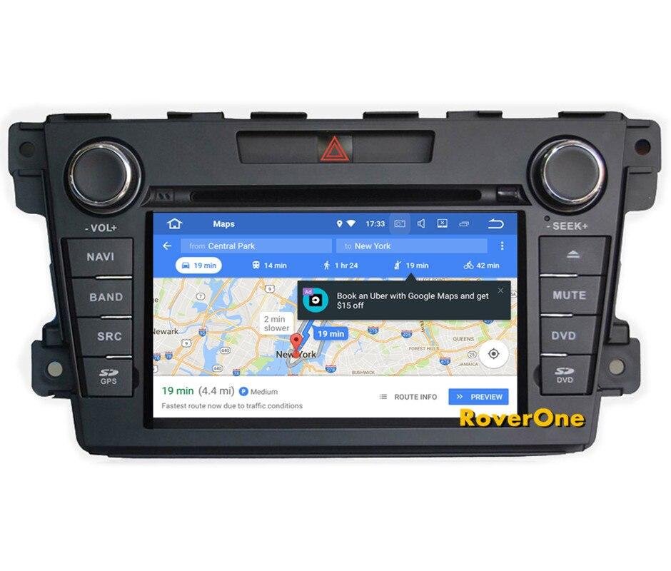 Lecteur multimédia de voiture RoverOne S200 Android 8.0 pour Mazda CX7 CX-7 CX 7 2007-2012 Autoradio DVD Radio stéréo GPS Navigation