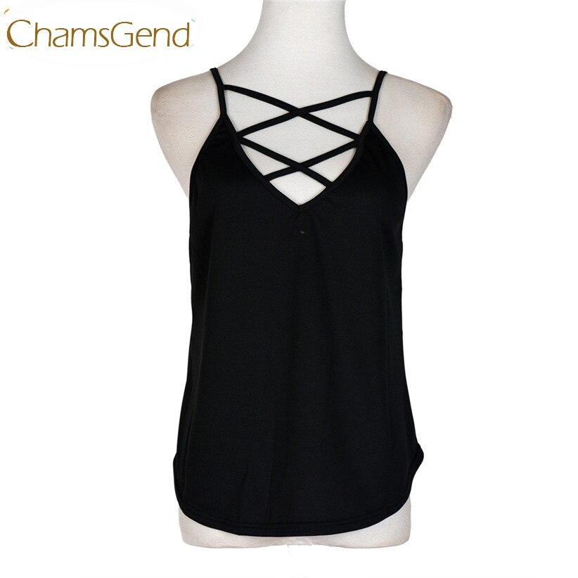 ②Chamsgend Crop Top Nouveaux Design De Mode Femmes D été Gilet Top ... 11bdfec86cf