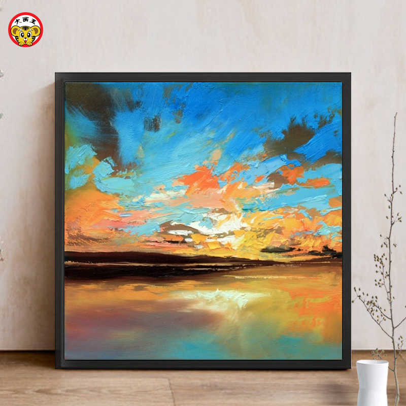 painting by numbers art paint by number abstract sky Sunset Decorative paintings manual Digital Painting Coloring diy draw pictu