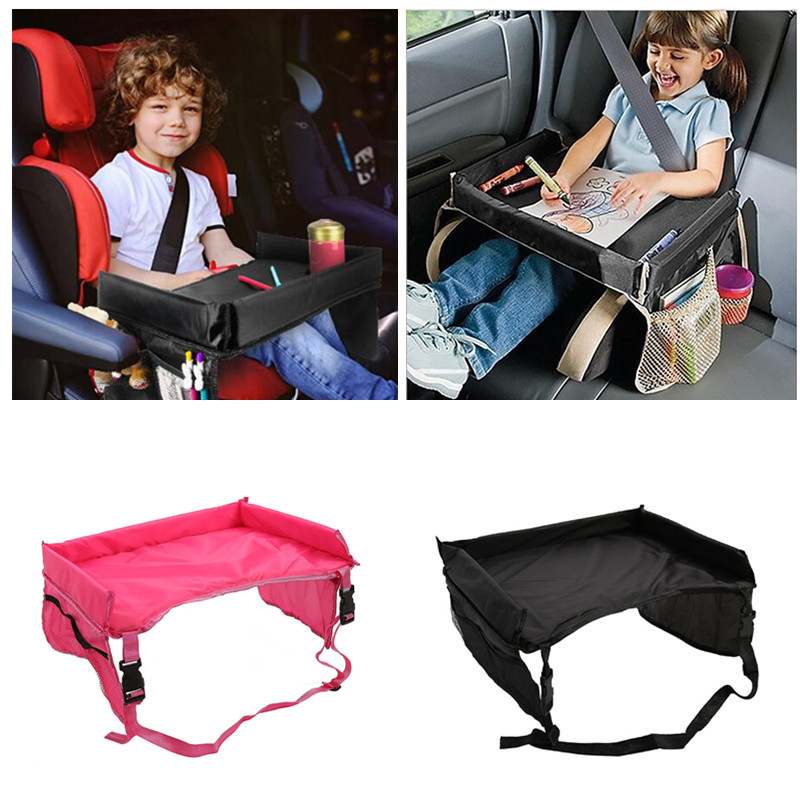 Waterproof Car Seat Tray Storage Kids Portable Table For Car Baby Stroller Holder Child Food Desk Travel Baby Chair Booster Seat