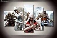Assassin Creed Wydruki Na Płótnie Malarstwo Ścienne Sztuki 5 Sztuk Obraz Wystrój Domu Panele