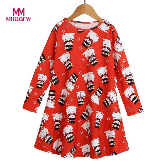 New Year Costume Toddler Kid Baby Christmas Dress Clothes Long