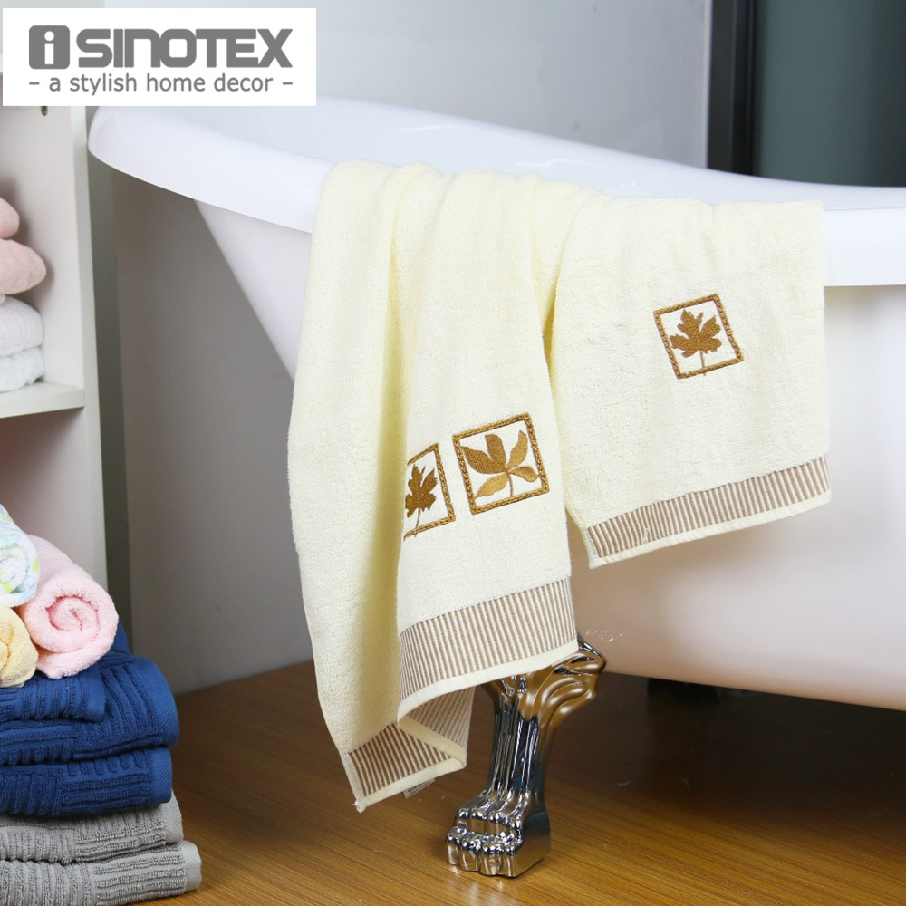 Isinotex Towel Set Embroidery Free Shipping Towel:30x50cm;Bath Towel:65x135cm Hand Face Hair Bath 2pcs/lot