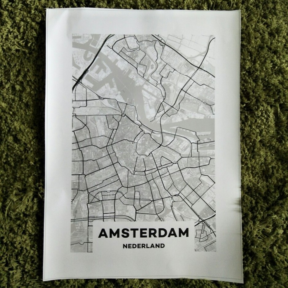 xdr452 Персонализиран MAP печат Creative Nordic - Декор за дома - Снимка 4