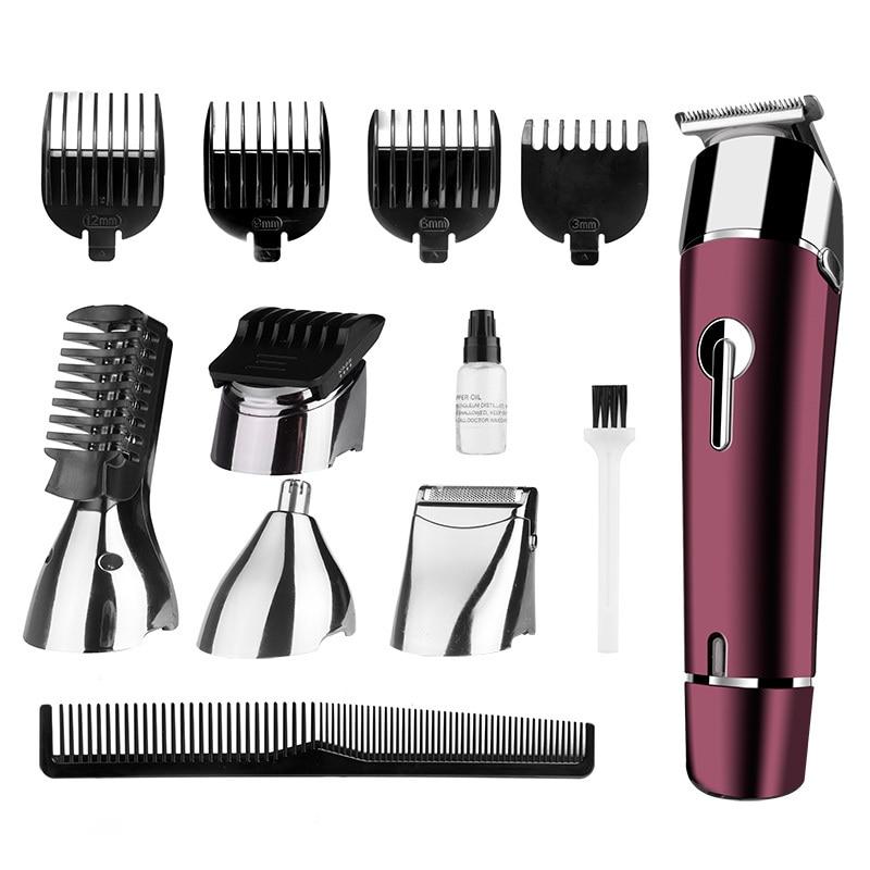 DSP 5 en 1 électrique tondeuse à cheveux Rechargeable coupe de cheveux barbe rasoir tondeuse étanche coupe de cheveux 110 V-220 V 50/60 HZ 3 W - 2